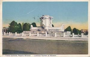 Luminous Fountain of Miramar, Cuba - Caribbean - pm 1931 - WB