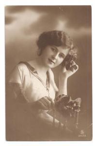 Beautiful Woman Pretty Lady Real Photo SLJFF 1914