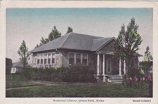 Memorial Library, Ocean Park, Maine,PU-1933