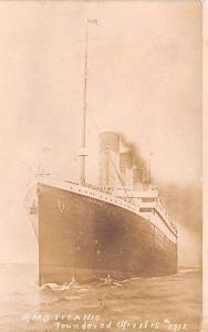 Titanic Ship Post Card Old Vintage Antique RMS Totanic Unused