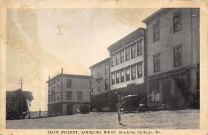 Stockton Springs ME AF&AM Masonic Lodge~Keep Right Post c1930 Automobile B&W PC