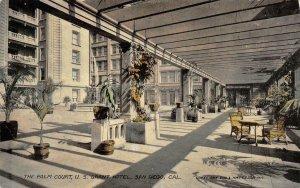 The Palm Court, U.S. Grant Hotel SAN DIEGO, CA c1910s Vintage Postcard