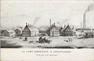 Le Camp Américain A Chenonceaux Renouard Unused Postcard F95