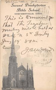 C22/ Steubenville Ohio Postcard 1906 Second Presbyterian Church Bible School