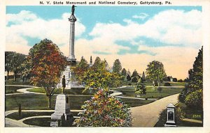 New York State monument and national cemetery Gettysburg, Pennsylvania, USA C...