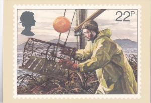 Stamps Of Great Britain Fishing Lobster Potting Issued 23 September 1981