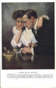 Artist Signed Clarence Underwood Nr. 833 M.Munk, Vienne Unused light crease n...
