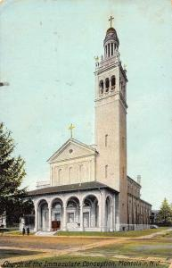 Montclair New Jersey Church Of Immaculate Conception Antique Postcard K98997