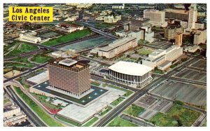 California Los Angeles , Aerial View of Civic Center