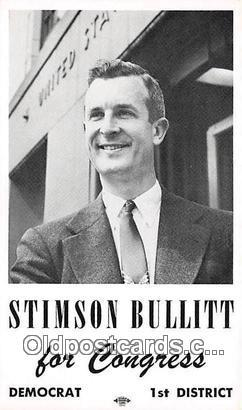 Stimson Bullitt, non postcard backing Congress, Democrat Postcard Post Card C...