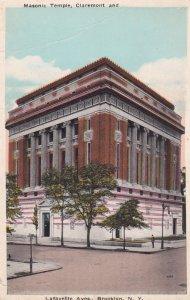 Masonic Temple , Claremont & Lafayette Aves. , BROOKLYN , New York ; PU-1926