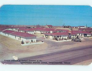 Pre-1980 OLD CARS & LONGHORN MOTEL Sweetwater Texas TX M2732