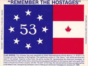 Remember The Hostages Flag Phillip Bianco Jr and Ken Oglesby