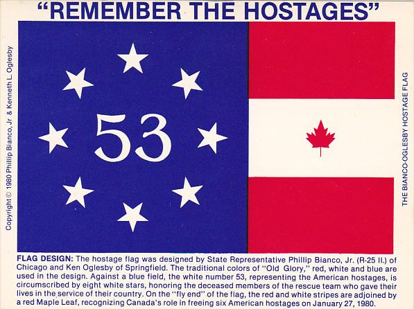Remember The Hostages Flag Phillip Bianco Jr and Ken Oglesby