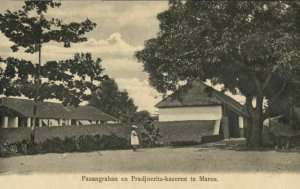 indonesia, CELEBES SULAWESI MAROS, Pasangrahan and Pradjoerits-Barracks (1899)