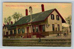 Penacook NH-New Hampshire Boston & Maine Railroad Station Vintage Postcard