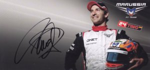 Timo Glock Marussia F1 Motor Racing Team Hand Signed Photo