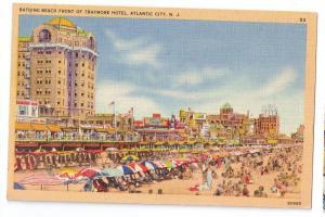 Atlantic City NJ Traymore Hotel Bathing Beach Tichnor Linen