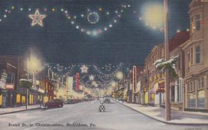 Pennsylvania Bethlehem Broad Street At Christmastime