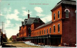 CHICAGO, IL Illinois    UNION  RAILROAD  STATION    c1910s     Postcard