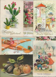 Kids And Flowers Theme Postcard Lot of 20  01.15