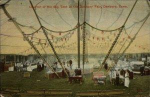 Danbury CT Fair The Big Tent c1910 Postcard