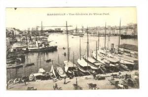 Vue Generale Du Vieux-Port, Sailboats, Marseille (Bouches-du-Rhône), France,...