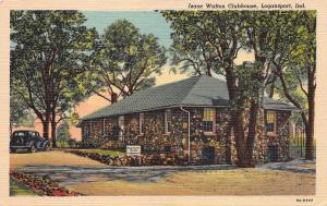 Izaac Walton Clubhouse, Logansport, Indiana, Early Linen Postcard, unused