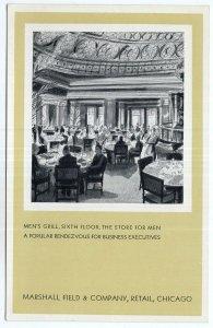 Chicago, Marshall Field & Company, Retail, Men's Grill, Sixth Floor