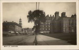 Hartford CT Main Street c1905 Real Photo Postcard