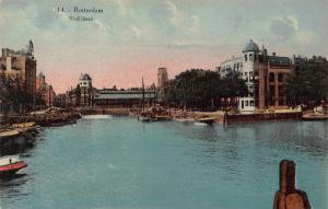Netherlands Rotterdam Wolfshoek Harbour Boats Postcard
