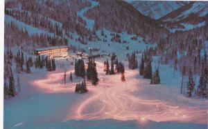 The torchlight parade by the school instructors, Sunshine Village, Banff,  Al...