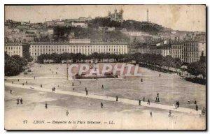 Postcard Old Lyon Bellecour Square Set
