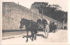 Pontanezen France Women Horse Cart Real Photo Antique Postcard J50510