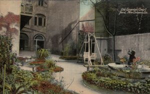 NEW ORLEANS, Louisiana, 00-10s; Old Spanish Court Yard, Fountain, Glider Swing