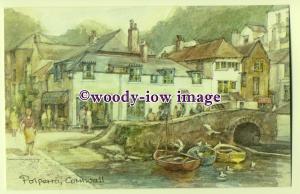 DS039 - Cornwall - Polperro Fishing Village, Artist - David Skipp - Postcard
