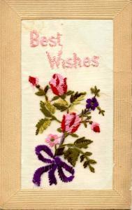 Embroidered Silk  - Best Wishes