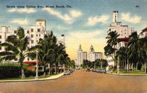 Florida Miami Beach Hotels Along Collins Avenue