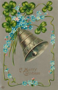 Christmas Greetings - Bell and Flowers - EAS - DB