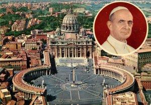 Italy - Rome, St Peter's Square. Pope Paul VI (1963-1978)