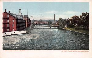 Paper Mills, Holyoke, Mass., 1904 Postcard, Unused, Detroit Photographic Co.