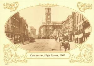 Reproduction Vintage 1902 Postcard, Colchester, High Street 80T