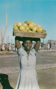 PORT AU PRINCE, Haiti, 50-60s; Tantine, Native Fruit Carrier
