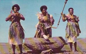 Fiji Fijian Warriors Beating The Lali 1958