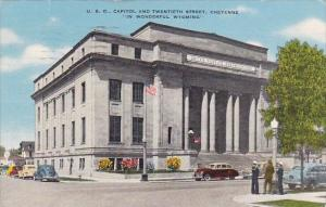 U S O Capitol And Twentieth Street Cheyenne In Wonderful Wyoming 1947