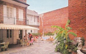 Louisaiana New Orleans Chateau Motor Hotel and Swimming Pool On Chartres Street