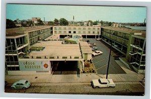 Louisville Kentucky, Quality Courts Motel VW Beetle Advertising, Chrome Postcard