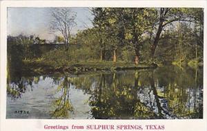 Texas Sulphur Springs Greetings From Sulphur Springs