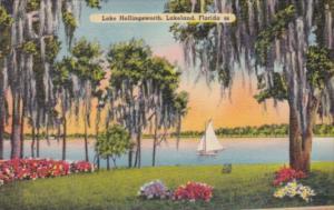 Florida Lakeland Sailboat On Lake Hollingsworth 1941