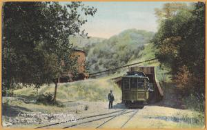 San Jose, Calif., Trolley entering tunnel on the way to Alum Rock Park-1909